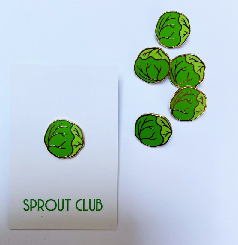 Brussel Sprout enamel pin image 0