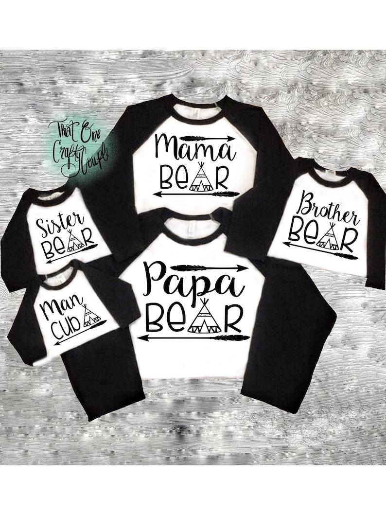 06978f53 Matching Family Bear Shirts Mama Bear Papa Bear and Baby   Etsy