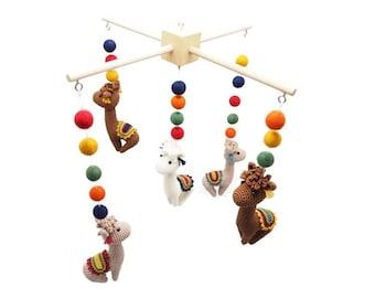 CROCHET PATTERN baby mobile alpacas