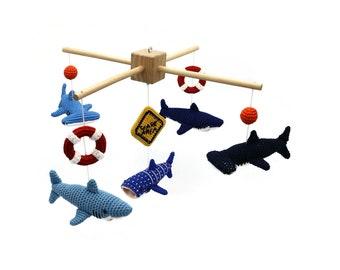 CROCHET PATTERN baby mobile sharks