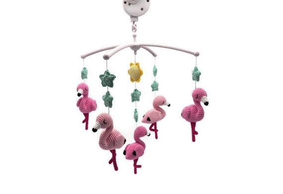 Haakpatroon Mobiel Flamingos Etsy