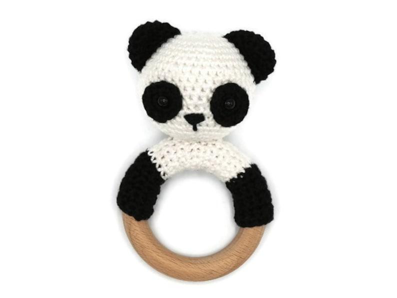 Haakpatroon Rammelaar Panda Etsy