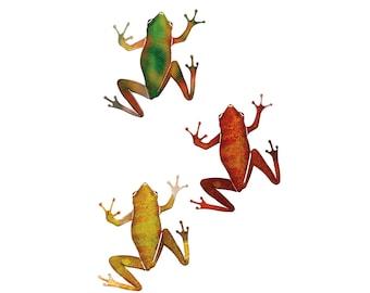 Frog Metal Art Etsy