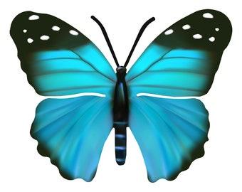 Blue Monarch Butterfly Wall Art