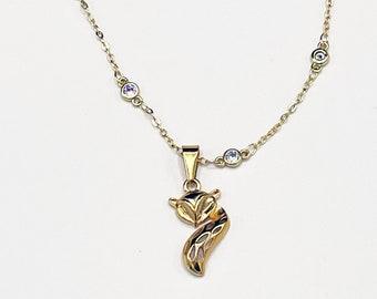 Gold Swinger Vixen Necklace, Hotwife, Swinger symbol, Hotwife jewelry, Open marriage, MFM, Swinger jewelry