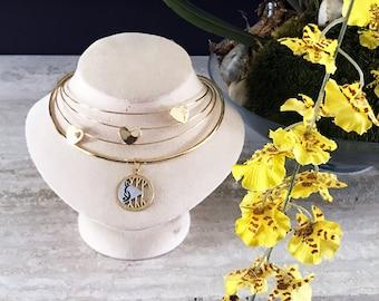 Gold SWINGER symbol necklace, Hot Wife Necklace, Threesome, vixen, MFM,fmf,  Necklace, Jewelry for Swinger, BBC, swinger symbol, sub