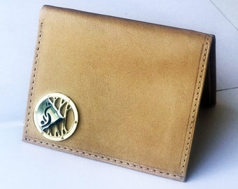 Men's Beautiful Leather Wallet with Partners ID Lifestyle Pendant