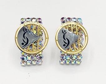 Crystal Swinger Symbol Earrings by Partners ID Swinger Jewelry