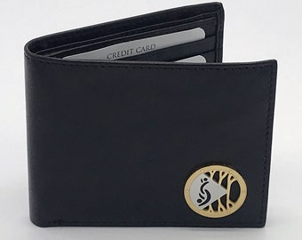 Brown Wallet with Partners ID Lifestyle Pendant