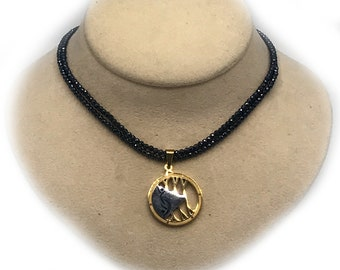 Blue Sparkling Double Chain Necklace with Partners ID Lifestyle Pendant