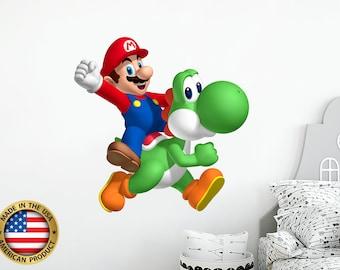 Super Mario Odyssey Wall Decal Sticker Bedroom Vinyl Kids Art Chain Chomp