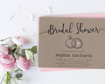 bridal shower invitations cheap etsy