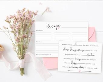 1c1dee2ad175 Bridal shower recipe cards