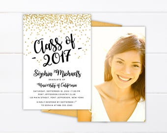Graduation party invitation high school graduation invite printed or printable college graduation invitation high school graduation announcement class of 2018 printed senior announcement cards filmwisefo