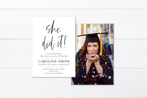 High School Graduation Announcements 2020.Printed College Graduation Invitation High School Graduation Announcement Class Of 2019 Printable Graduation Party Invitation Class Of 2020