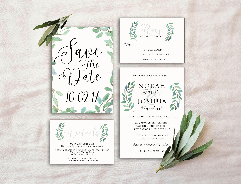 50: Olive Leaf Wedding Invitation At Websimilar.org