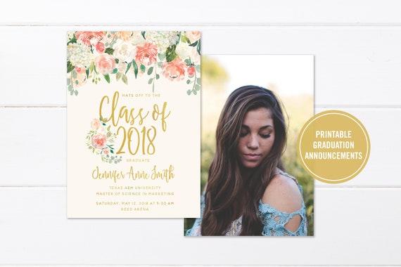 College graduation invitation printable or printed high etsy image 0 filmwisefo