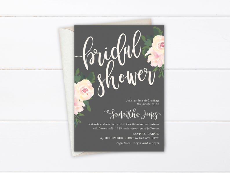 099e5c0b9eb7 Rustic Bridal Shower Invitation Printable or Printed