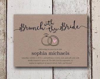 Bridal Shower Invitation Instant Download, Rustic Bridal Shower Invites, DIY Wedding Shower Invites, Printable Shower Invitations, Download