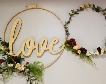 Wood Word Cutout | Fixer Upper Inspired | Cursive Cutout | Word Cutout | Dining Room Sign | Wood Letter | Farmhouse Style | Laser Cut Word