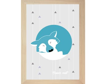 Silent night, the flannel Wolf poster