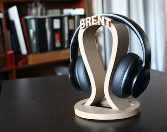Custom headphone holder, Valentine's Day Gift, Husband Gift, personalized men gift, headphone stand,  DJ Gift, Game tag