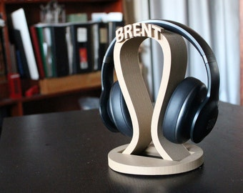 Custom headphone stand, Gamer gifts, Valentine's Day Gift, Man Gift, DJ Gift, Game tag, headphone holder, Husband Gift, Headphone Stand