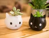 Cat lover gift, Cat Planter, Valentine 39 s Day Gift, animal planter, Cat Gift, black cat, Kitty, cat, cat lover, Kitty Gift
