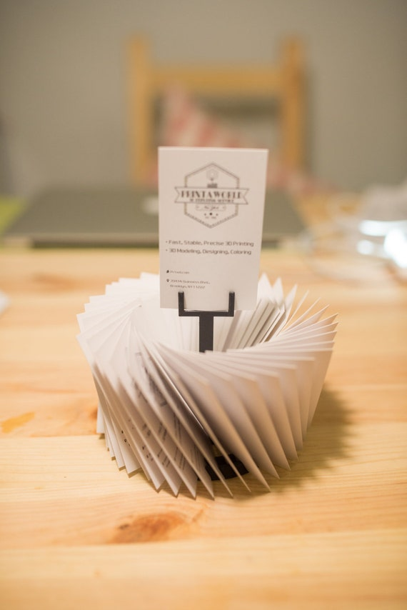 3d Printed Business Card Stander Business Card holder Dads