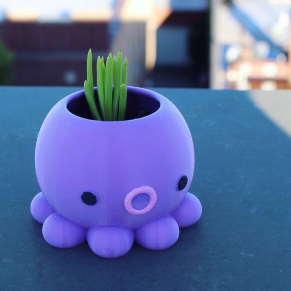 Christmas In Octopus Garden >> Post Christmas Delivery Octopus Planter Octopus Garden Back To School Gift 3d Printed Octopus Decor Home Decor Succulents Airplants