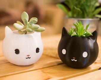 Cat Planter, Black cat, Cat lover gift, Animal planter, Cat Mom, Cat Dad, Cat decor, Cat Gifts, cat plant pot, cat lover, Kitty Gift