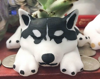 Dog Planter, Personalized Fathers Day Gift, Siberian Husky, 3d Printed, Home Decor, Gardening, Cute, Christmas Gift, Dog Lover, Organizer