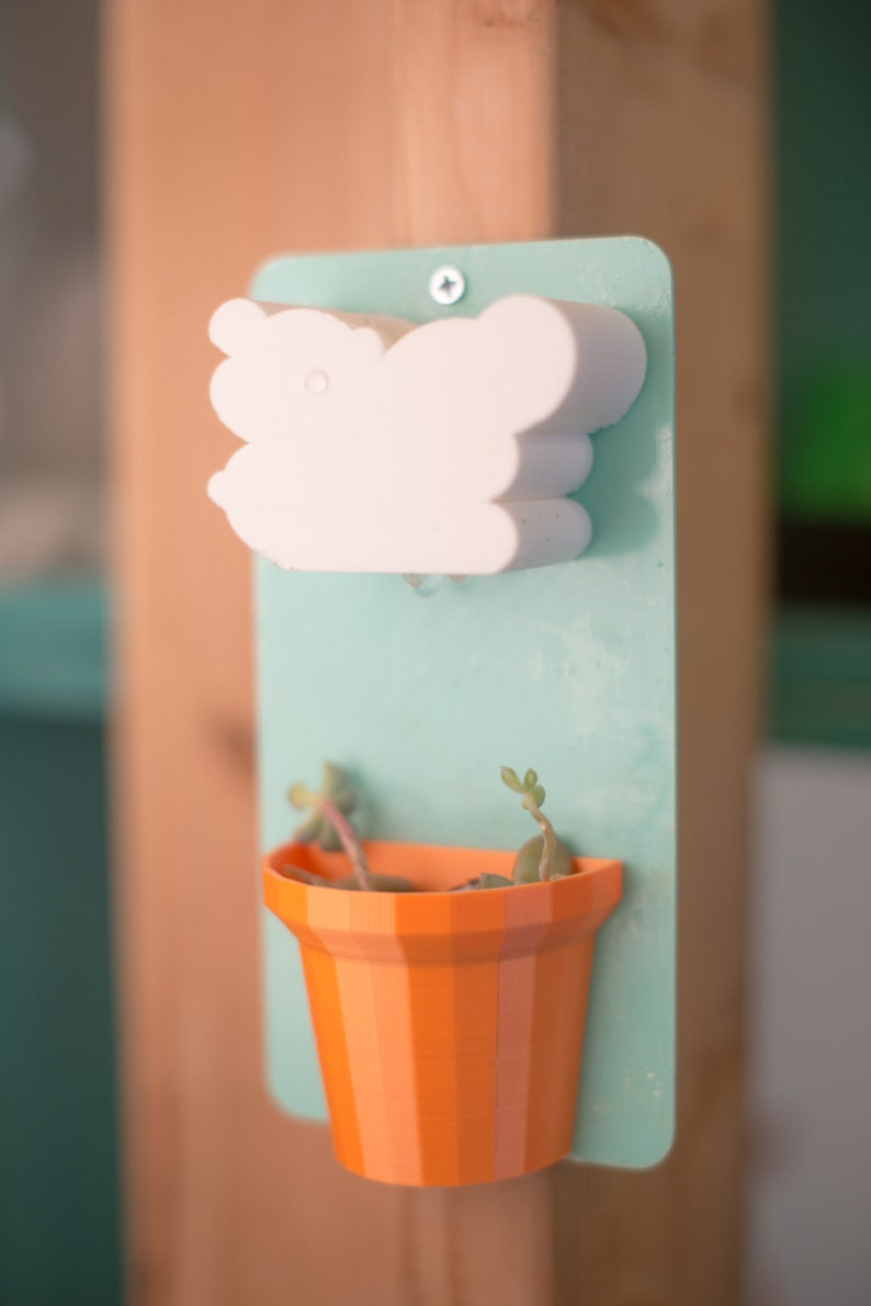 Hanging Planter Mother/'s Day Gift AFTER CHRISTMAS DELIVERY**Cloud Hanging Planter 3D Printed Plastic Creative