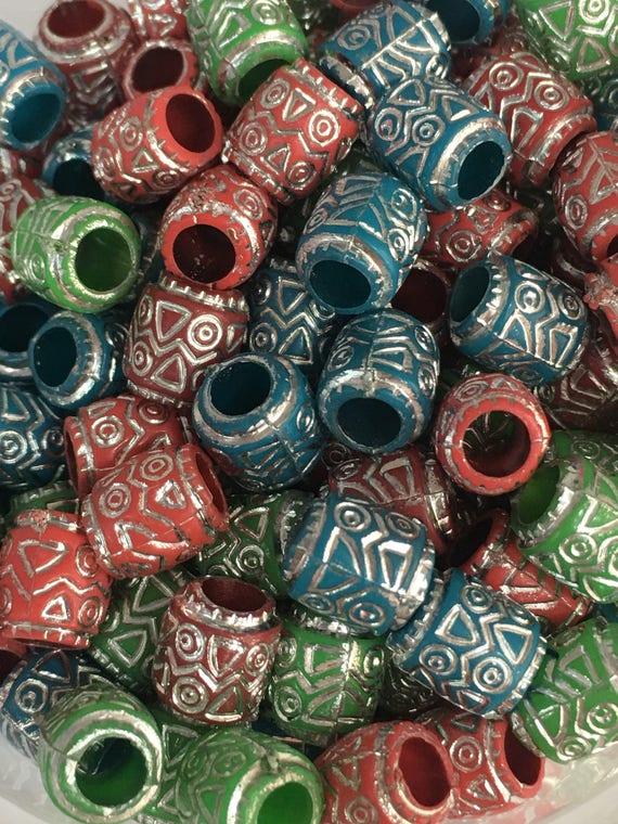 10//50pcs Mixed Color Barrel Shape Color Glazed Jingdezhen Ceramic Beads 20mm