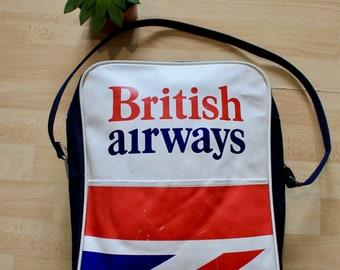 c0a63abf48 Vintage British Airways Original Crew Flight Bag