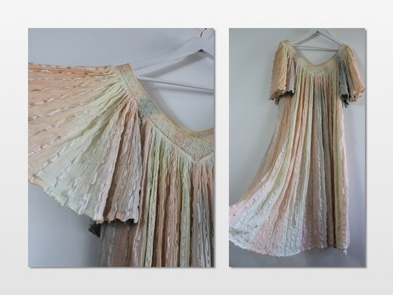 Studio 54 70s Smock cheesecloth dress