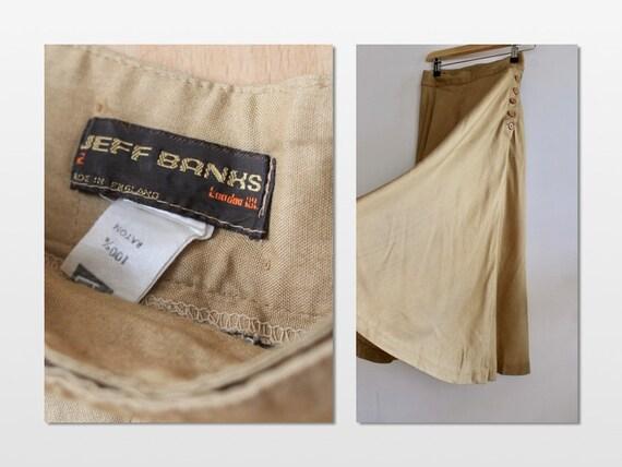 Jeff Banks Caramel High Waisted Midi Skirt