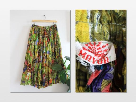 MAYUR Parrot tropical Graphic Print Skirt