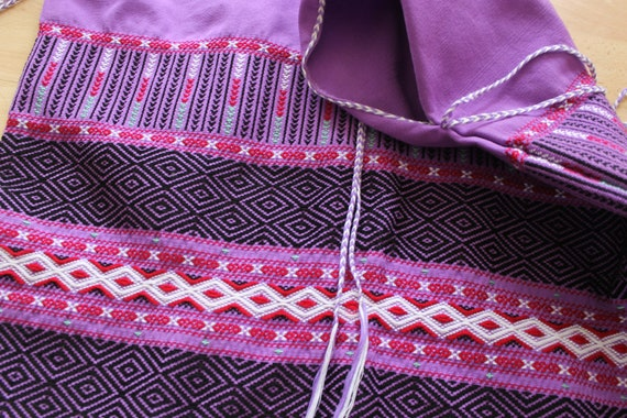 Purple Embroidered hippie Poncho Vest - image 3