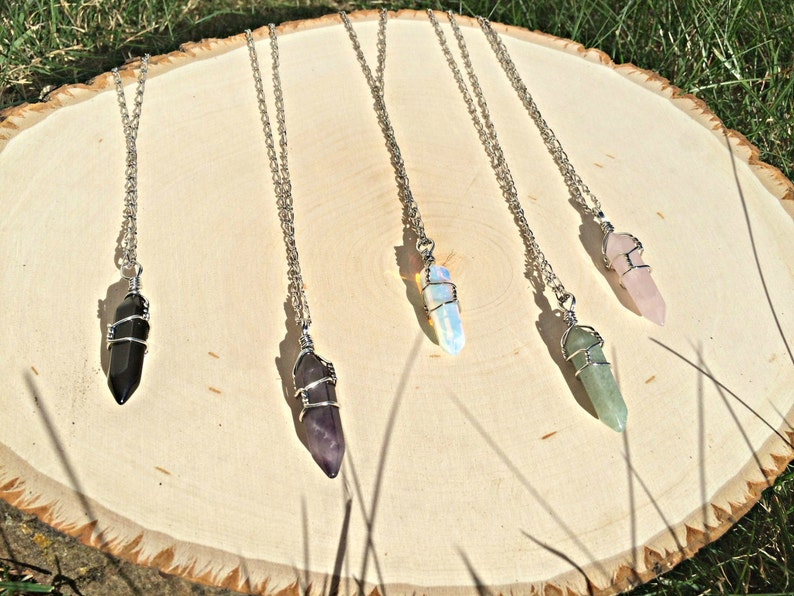 Crystal Pendants Crystal Necklaces Heal Crystal Point Healing image 0