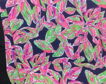 80a7e5542d3de3 Items similar to Lilly Pulitzer Fabric Bright Navy SIPPIN and ...
