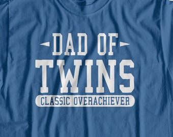 a3e317c9d Twins T-shirt, Dad of twins Funny T shirt, surprise pregnancy gift for dad,  Funny T Shirts for Men, T Shirts for Husband, Gifts for Dad 9