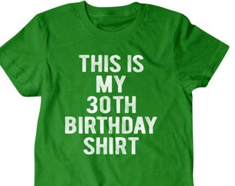 30 Years Old Birthday Gift 30th T Shirt Funny Gifts For Son Boyfriend Husband 63