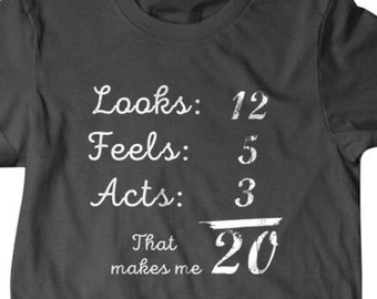 20th Birthday Shirt 20 Years Old Gift T Funny Gifts For Dad Boyfriend Husband 451