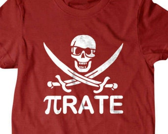 Pirate T-shirt, Pi rate Funny T shirt, Geek gift, gifts for dad,  shirt, boyfriend, husband