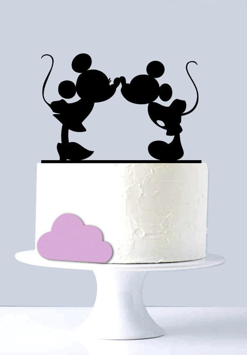 Wedding Cake Topper Disney Topolino E Minnie Baci Wedding Etsy