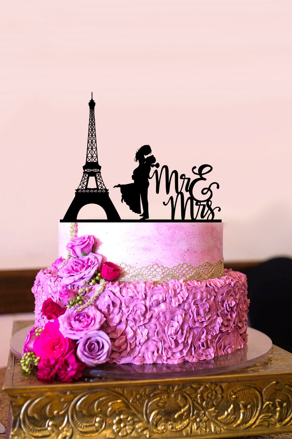 Mr and Mrs Cake Topper Paris Wedding Cake Topper Couple | Etsy
