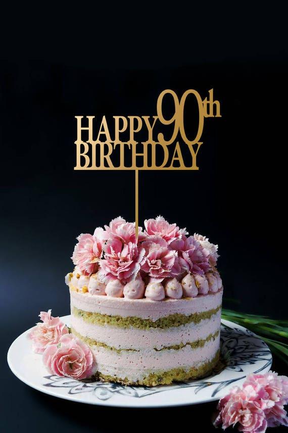 Personalized Birthday Cake Topper Customized Happy