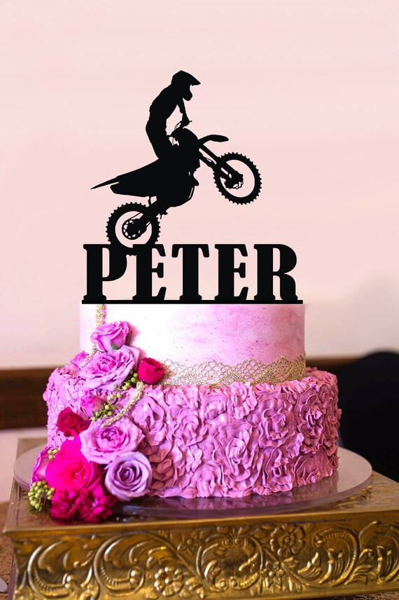 Motorcycle Cake Topper Dirt Bike Cake Topper Motocross Etsy