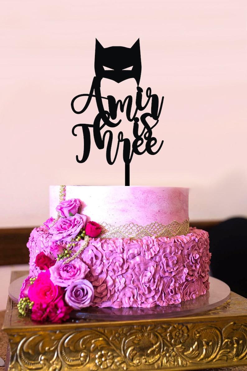 Batman Birthday Cake Topper Custom Years And